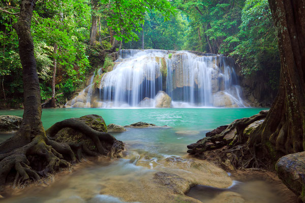 Erawan waterfall in Erawan Nationalpark