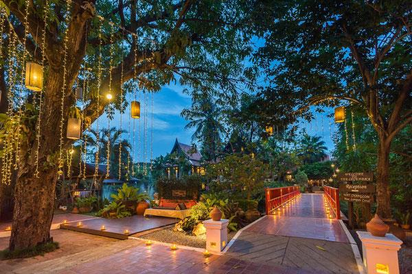 Sehr schöne und romantische Anlage im Legendha Sukhothai Resort.