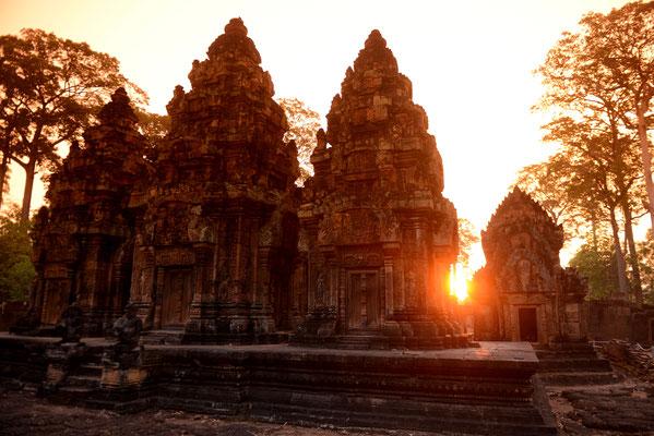 Sonnenuntergang am Angkor Banteay Srei