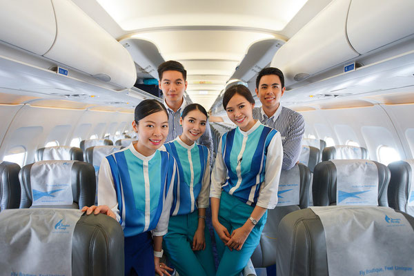Die Crew der Bangkok Airways