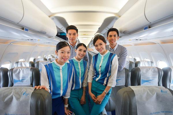 Die Crew der Bangkok Airways