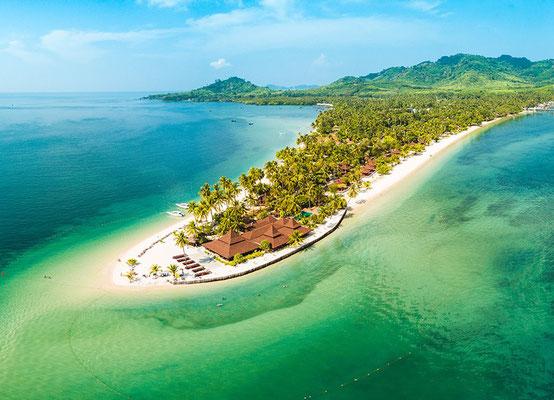 Kleine individuelle Inseln in Thailand