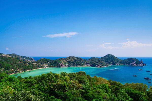 Ausblick Koh Tao Bucht