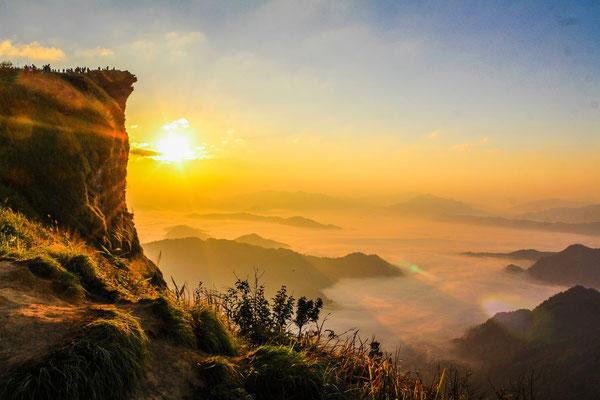 Phu Chi Fa bei Sonnenaufgang