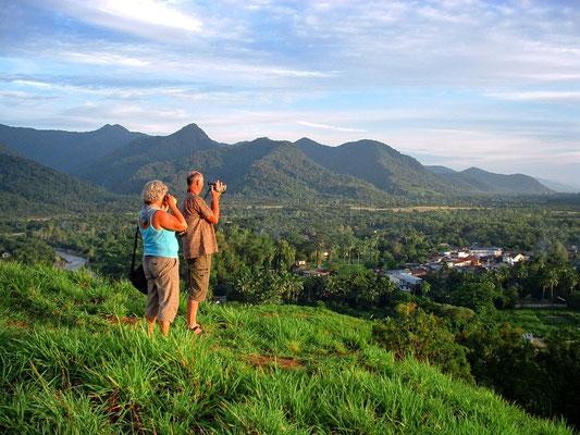 Aussicht auf die Choclate Hills von Ranong