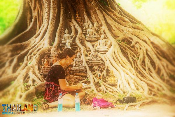 Entspannen im Geschichtspark von Sukhothai