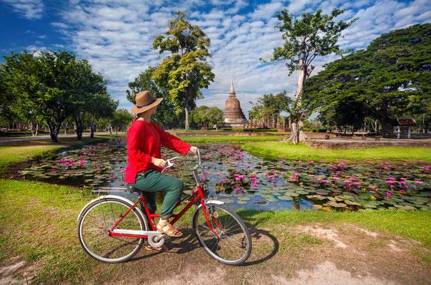 Radreise Sukhothai Thailand