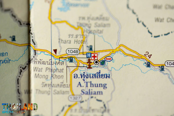 Maßstab Strassenkarte Thailand