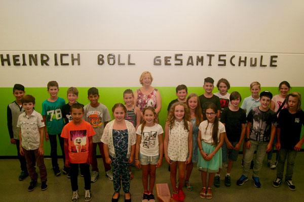 Klasse 5b mit Frau M. Müller