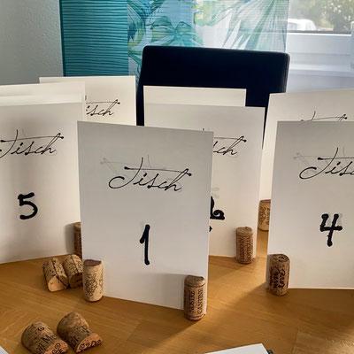 Tischnummern Korken