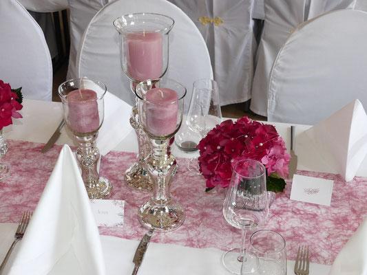 Kerzenständer Bauernsilber mit Glas in 3 Größen