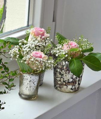 Bauernsilbervasen klein für Blumen oder Kerzen