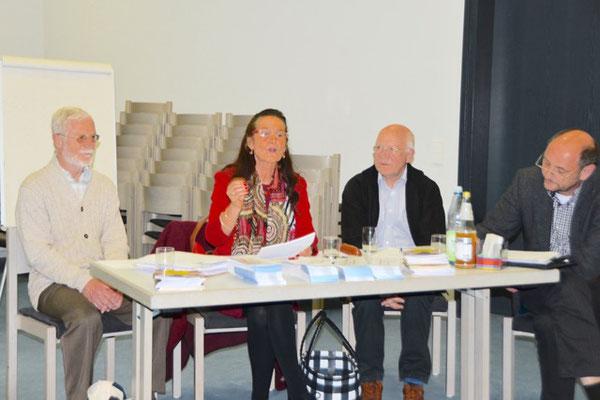 Durchführung der anstehenden Wahlen, v. r. Rolf Müßig, Hans-Martin Eras, C. Kerner, H. Wördehoff