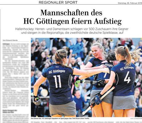 Göttinger Tageblatt HC Göttingen feiert Aufstieg in die Regionalliga