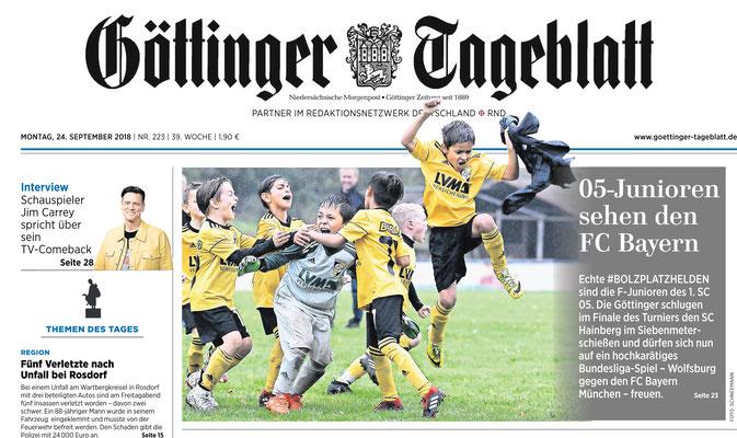 Finale Bolzplatzhelden 2018. Serie des Göttinger Tageblatt