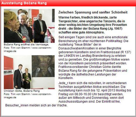 Pressemitteilung Landtag Brandenburg zu Potsdam 14.02.2013