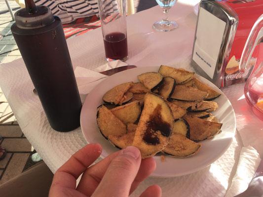 Auberginen mit Sirup