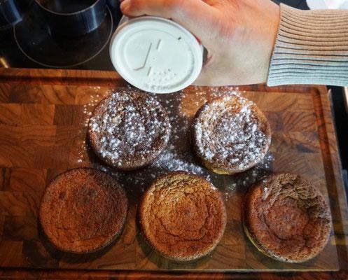 fertige Frischkäse Törtchen aus der Backform von Ess-Nische