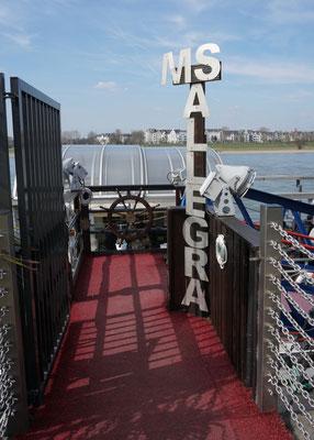 """auf dem Gastro Schiff """"MS Allegra"""" in Düsseldorf"""