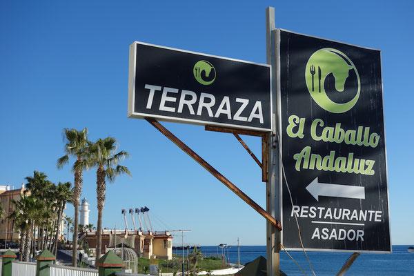 Hinweisschild zum El Caballo