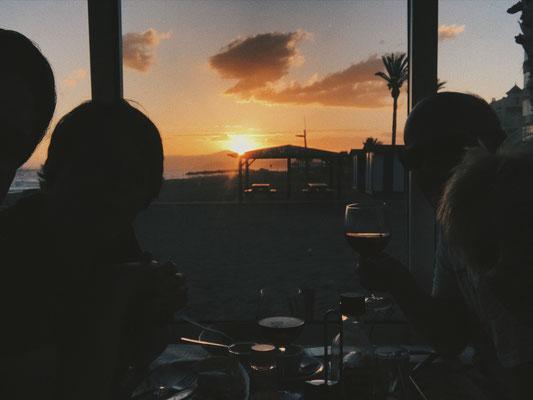 Sonnenuntergang in Torrox Costa