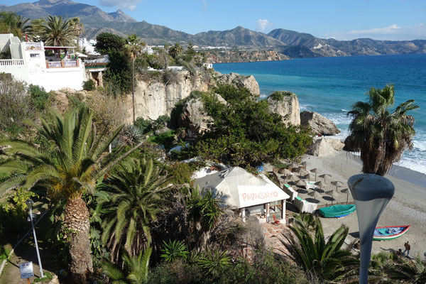 Ausblick Nerja Andalusien