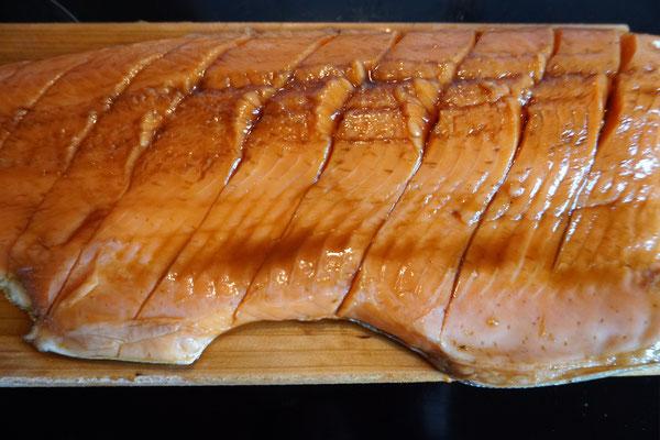 Lachs eingelegt in Sojasoße und Teriyakisoße