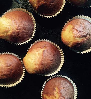 Fertig gebackene Muffins