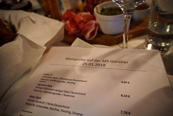 Wein auf Wasser  - MS Günther in Münster