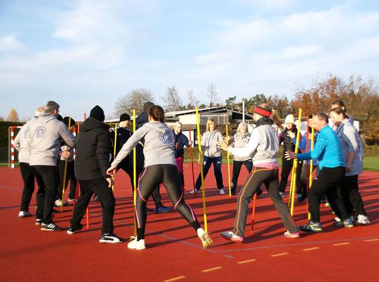 ... praktische Sportbeispiele ausprobieren ...