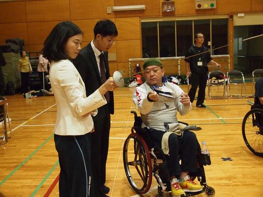 北区の区会議員、斉藤りえさんも体験希望で来訪
