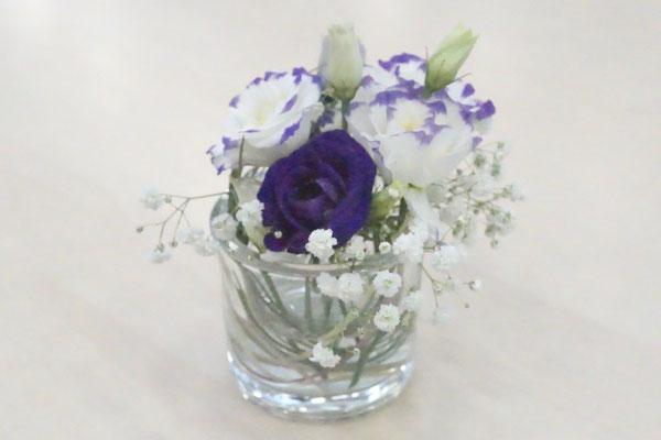 Tischdeko Blüten Stiel