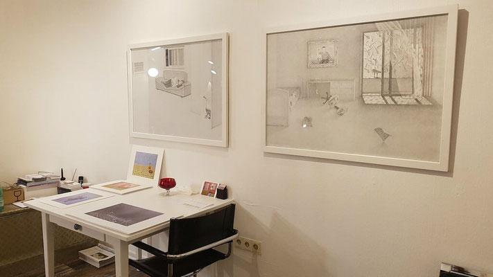 """""""RAUM und LEERE"""" - Albert Brahaj mit Malerei & Zeichnung a. 21.11.2020 im 68elf - studio."""