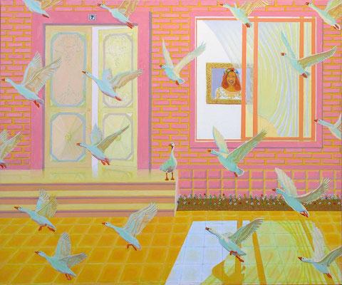 """""""Hause Nr.7"""", 100 x 120 cm. *2017"""