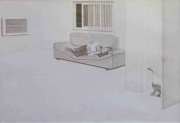 """White Goose"", 70 x 100 cm. *2010"