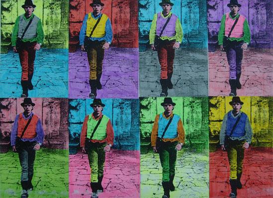 Hiermit trete ich aus der Kunst aus, Collage, Textmarker auf swKopie, gerahmt, 40x50cm, 1989, 800 Euro