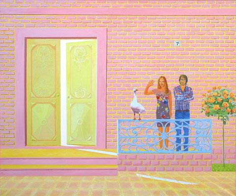 """""""Hause Nr. 7"""", 100 x 120 cm. *2016"""