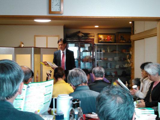 4/12には、ガレージセール終了後に「保坂区長と語ろう会」が開催されました