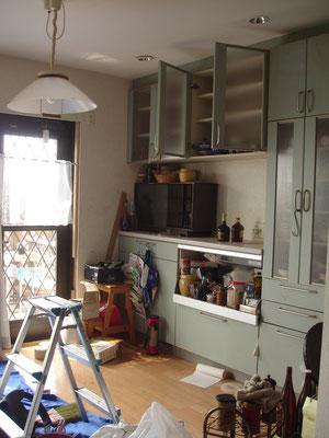 キッチンの位置も変えました