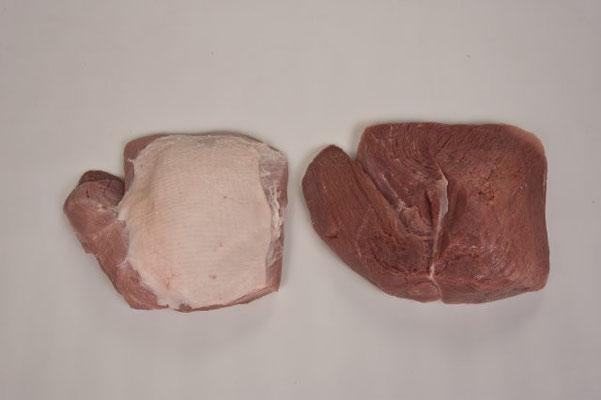 Unterschale ohne Schwarte ohne Nachwade innenseitig entvliest