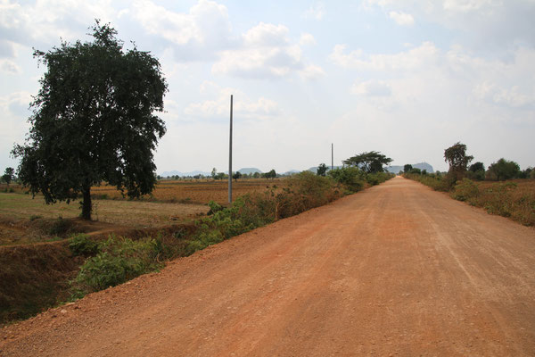Landschaft mit dem Motorrad