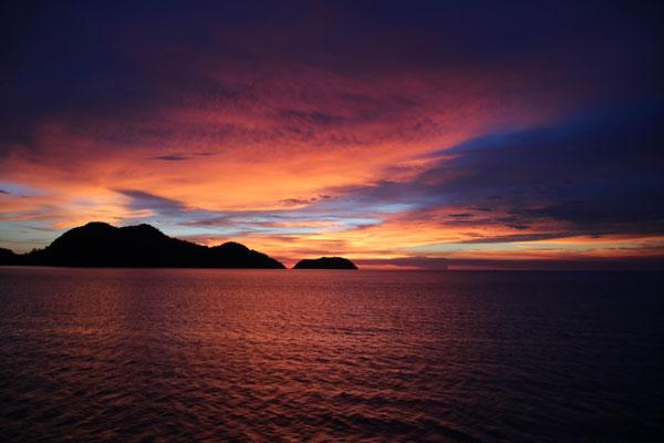einer der schönsten Sonnenuntergänge, die ich je gesehen habe.