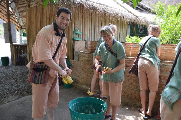 Bananen waschen!