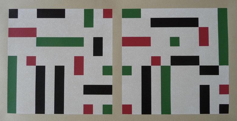 Eins, zwei, drei, vier, Eckstein 22 x 46 cm