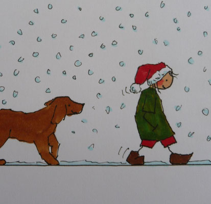 Weihnachtsspaziergang mit Luna