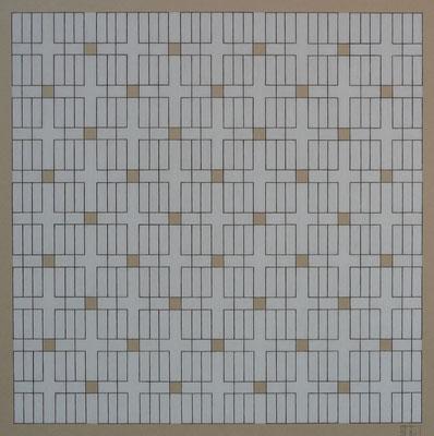 """Geordnetes Gewühl"" 36 x 36 cm"