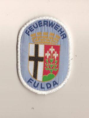 Feuerwehr Fulda hellblau blaue Schrift