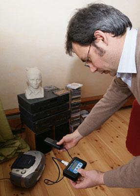 Messung elektrischer Wechselfelder - Elektrosmog