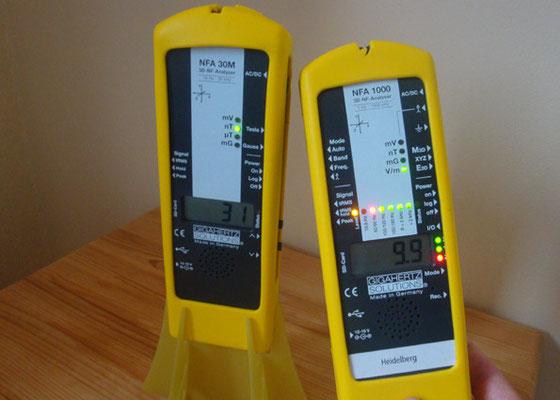 Professionelle Messgeräte für elektrische- und magnetische Wechselfelder