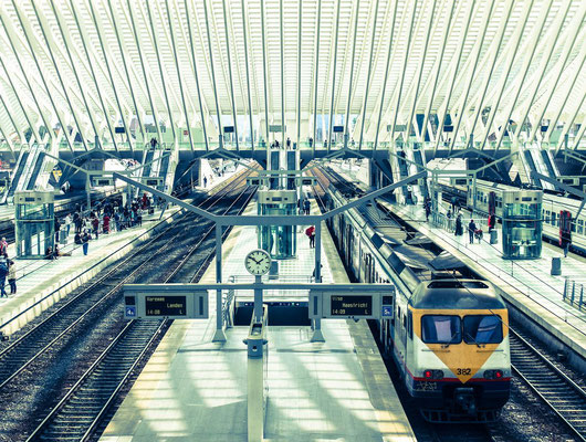 ©Emilie en Wallonie | Photographie | Les voyages en train | Liège - Gare des Guillemins